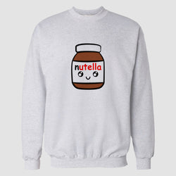 White Nutella Printed Sweatshirt
