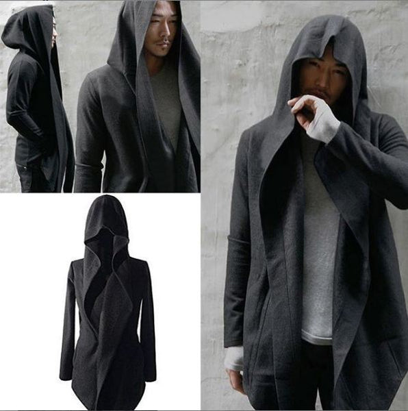 Long Fleece Coat for Men Charcoal