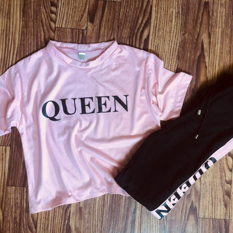Pink Queen Summer Tracksuit For Women