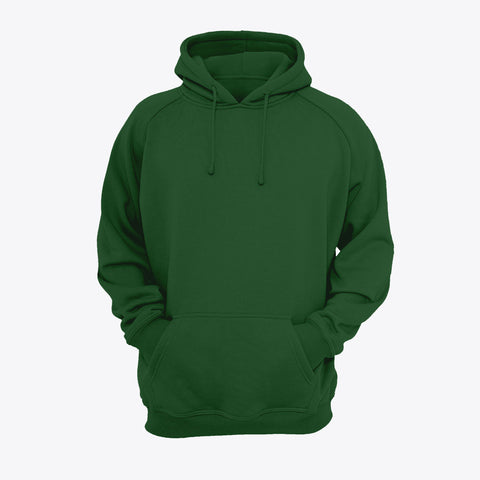 Hunter Green Plain Kangroo Hoodie