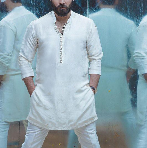 White Plain Short Kurta