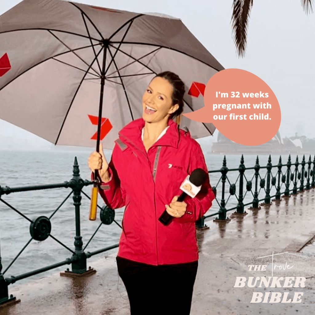 THE BUNKER BIBLE x 7NEWS REPORTER & MUM-TO-BE JESS RIDLEY