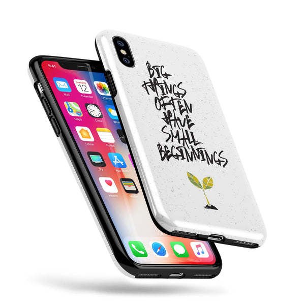 Big Things Have Small Beginnings - Swappable Series iPhone Case