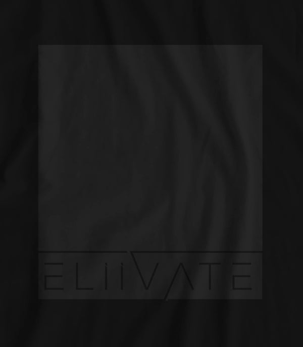 Block Logo - Eliivate // Fitted Short Sleeve Long-Line T-shirt