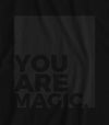 You are Magic - Matte Black Block Logo // Fitted Long-Line T-shirt