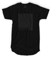 Grind - Matte Black Block Logo // Fitted Long-Line T-shirt