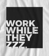 Work While They ZZZ - Matte Black Block Logo // Fitted Long-Line T-shirt