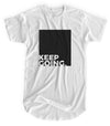 Keep Going - Matte Black Block Logo // Fitted Long-Line T-shirt