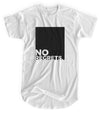 No Regrets - Matte Black Block Logo // Fitted Long-Line T-shirt