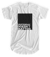Yesterday Doesn't Matter - Matte Black Block Logo // Fitted Long-Line T-shirt