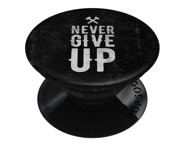 Black Hammered Never Give Up - Eliivate Skin for PopSockets Grips & Stands