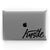 Hustle (Black) // Crystal Clip-On MacBook Case