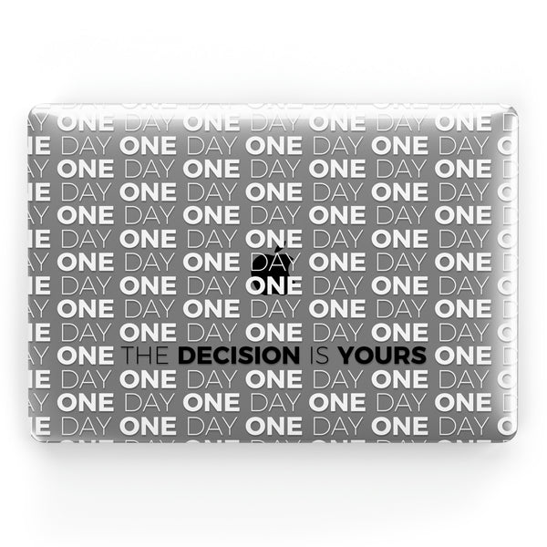 One Day or Day One (White) // Crystal Clip-On MacBook Case