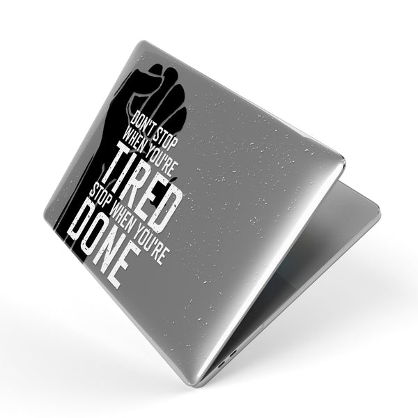 Stop When You're Done // Crystal Clip-On MacBook Case