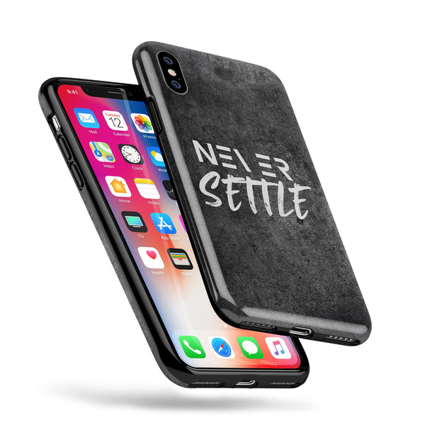Never Settle V2 - Swappable Series iPhone Case
