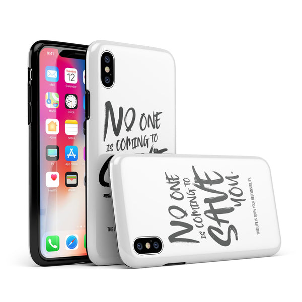 No One is Coming to Save You - Swappable Series iPhone Case