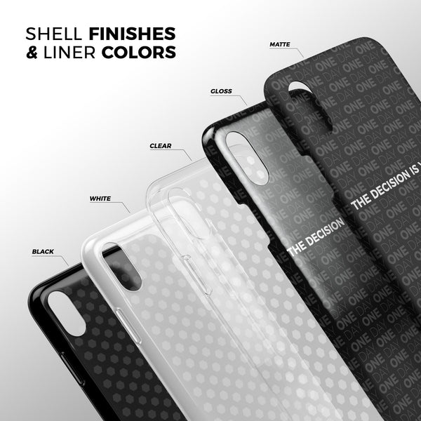 The Decision is Yours / Black - Swappable Series iPhone Case