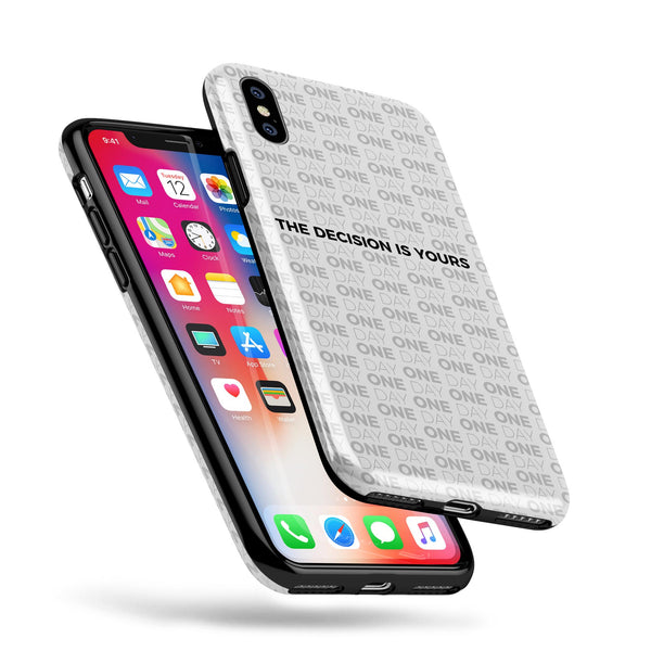 The Decision is Yours / White - Swappable Series iPhone Case