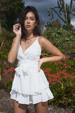 Blake Playsuit White
