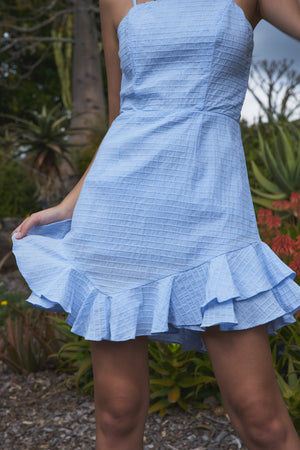 Makayla  Dress Steel Blue
