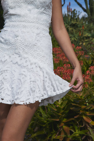Scarlett Lace Dress White