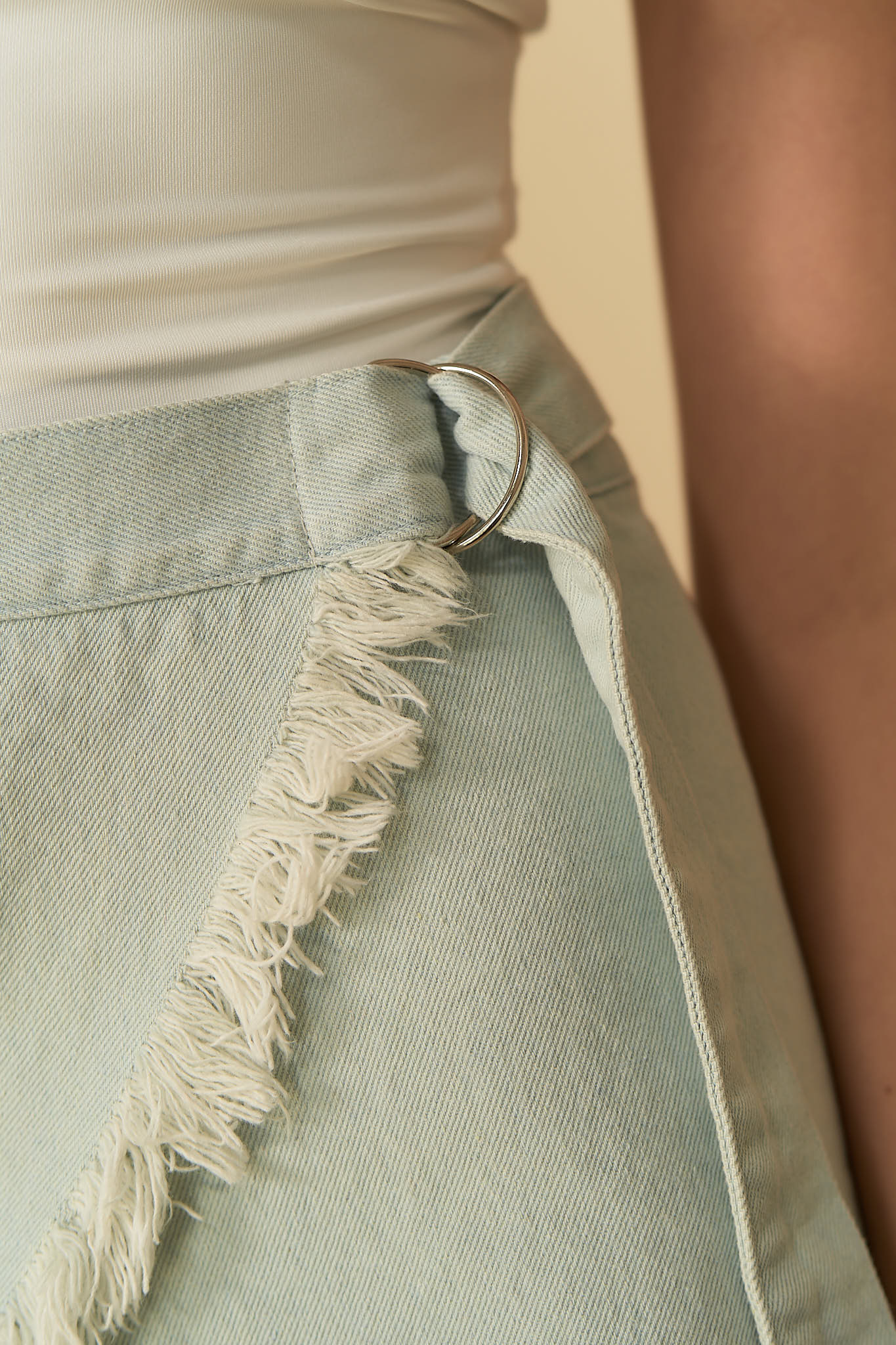 Nora Denim Skirt Light Blue