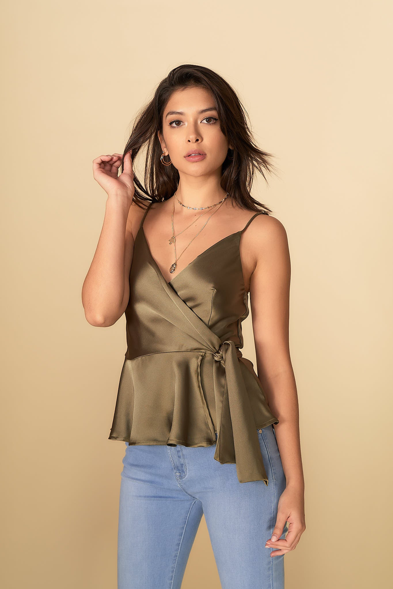 Riley Top Khaki