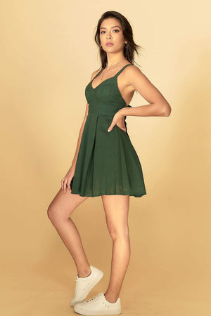 Aubree Dress Forest Green