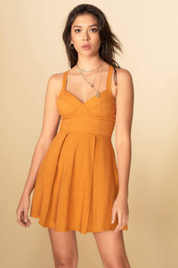 Aubree Dress Mustard