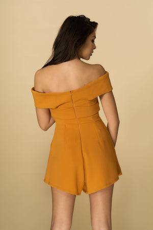 Grace Playsuit Mustard