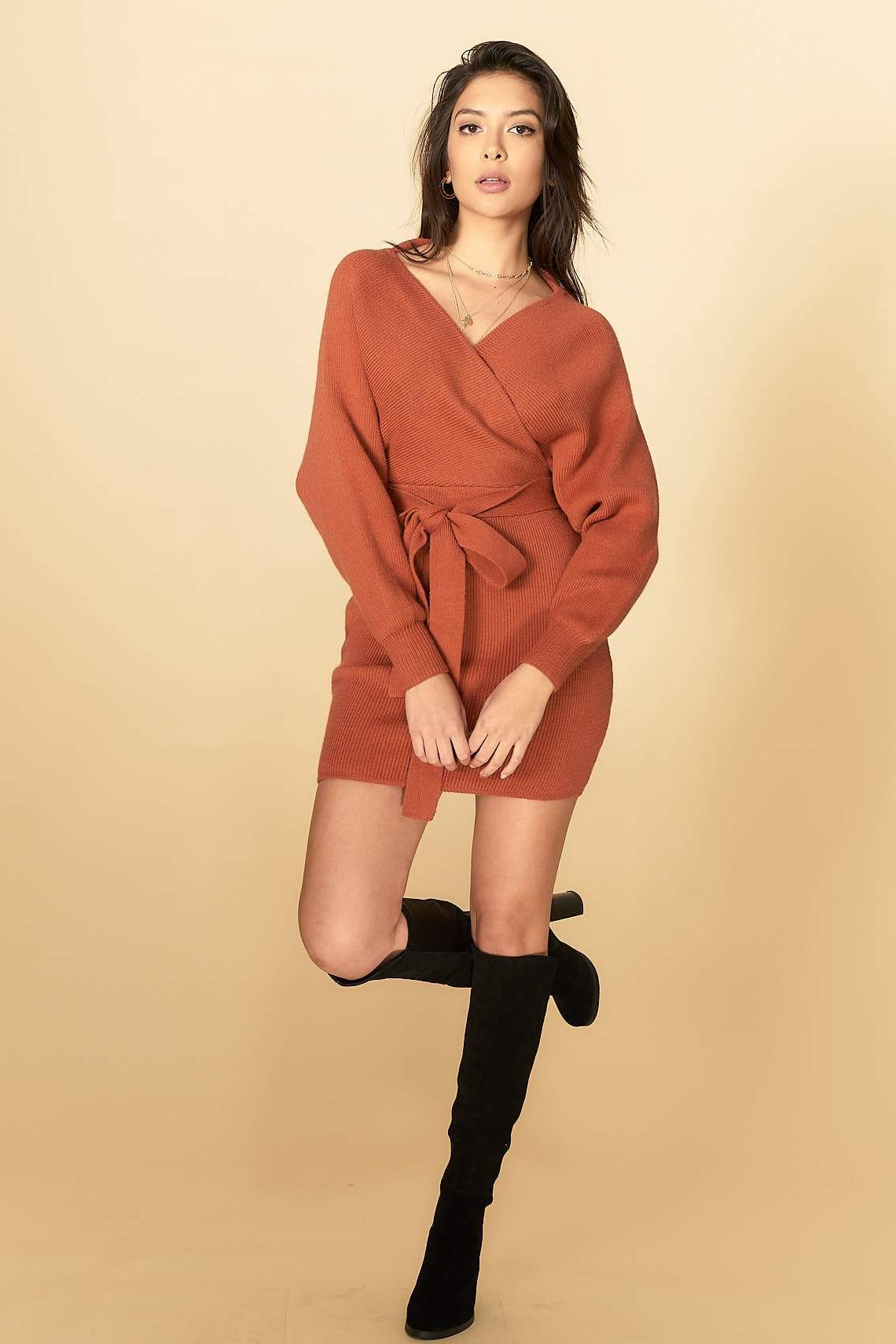 Eleanor Knit Dress Camel