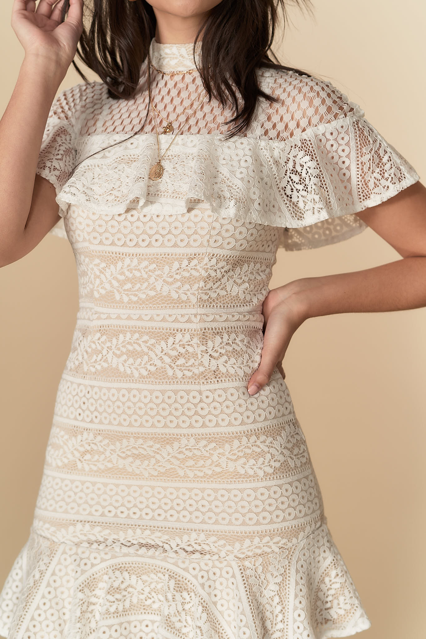 Valentina Lace Dress White