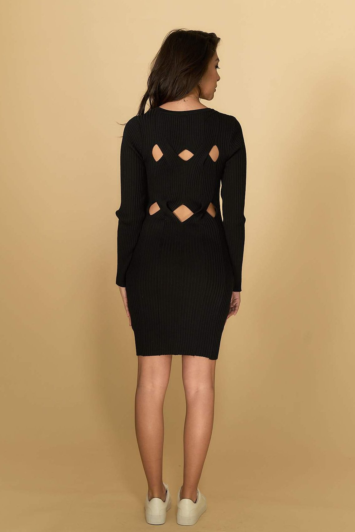 Madelyn Knit Dress Black