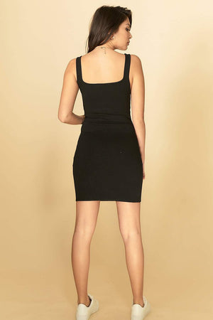 Abigail Knit Dress Black