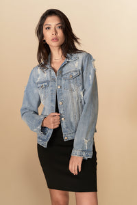 Marley Denim Jacket Lightwash Blue