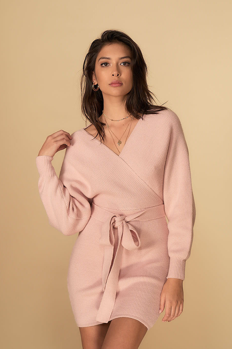 Eleanor Knit Dress Blush