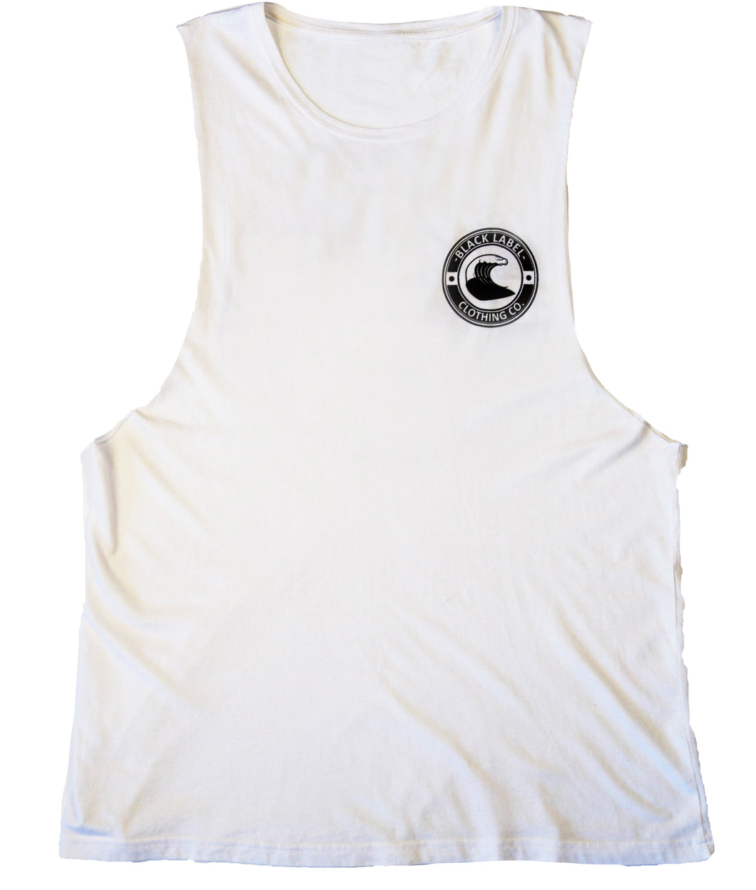 Black Label Clothing | Unisex Pitted Tank | White