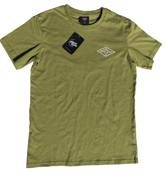 Black Label Clothing | Diamond Heads Tee | Olive Green