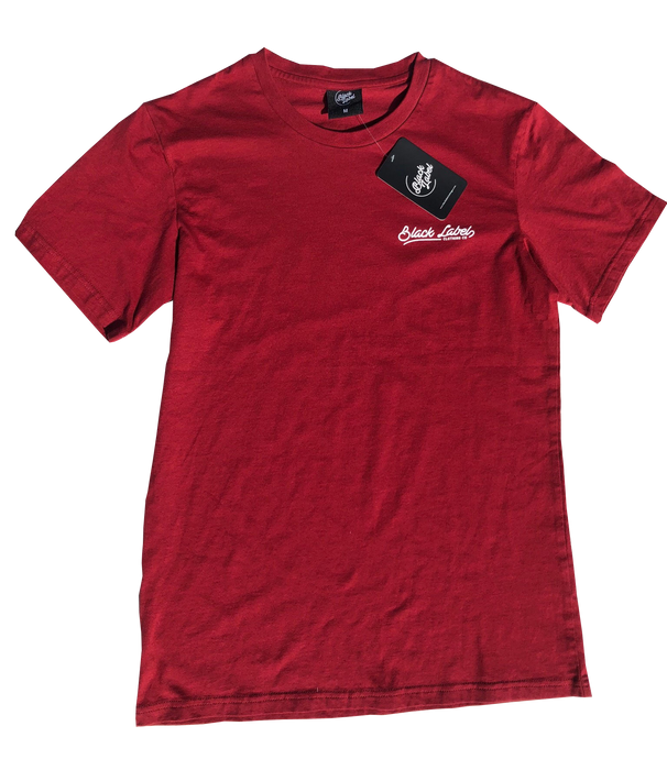 Black Label Clothing | Island Time Tee | Maroon