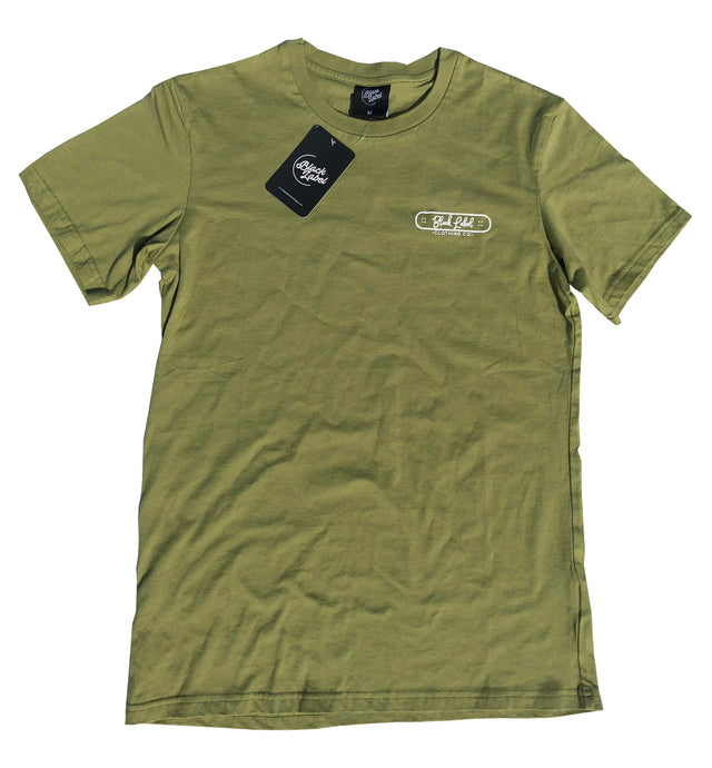 Black Label Clothing | Skater Tee | Olive Green