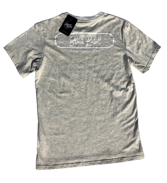 Black Label Clothing | Skater Tee | Light Grey