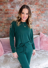 Emerald jersey and jogger Lounge set - Style 363