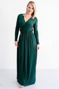 Emerald green dress Style 310