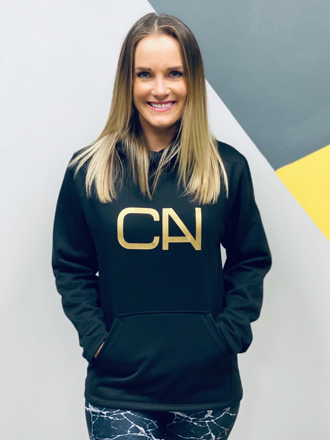 CAN Hoodie - Black/Gold CAN - Style 351