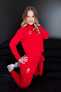 Hot red knit set - Style 365