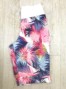 Boutique Navy & sugar coral Printed Shorts