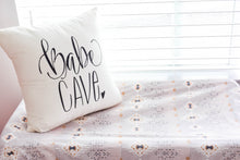 Babe Cave Girls Room Woman Cave Hand drawn Nursery Pillow 16 x16 Handwritten Makeup Room Woman Cave Craft Room Ladies