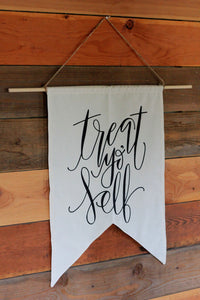 Wedding Treat Table LARGE Flag Banner Bridal Shower Sweets Table Bachelorette Hand Lettered Flag Party Backdrop Candy Cake Table Birthday