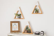 SET OF 3- Woodland Nursery Mountain Shelf Room Decor Snow Peak Mountain Forest Reclaimed Wood Triangle Geometric