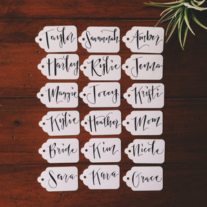Rehearsal Dinner Place Cards- Custom Handwritten Gift Tags